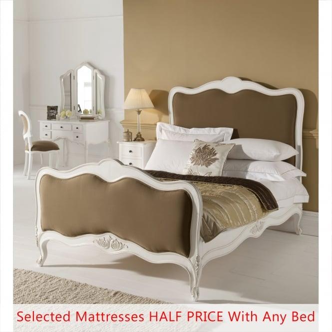 Paris Antique French Style Bed (Size: Single) + Mattress - Bundle Deal