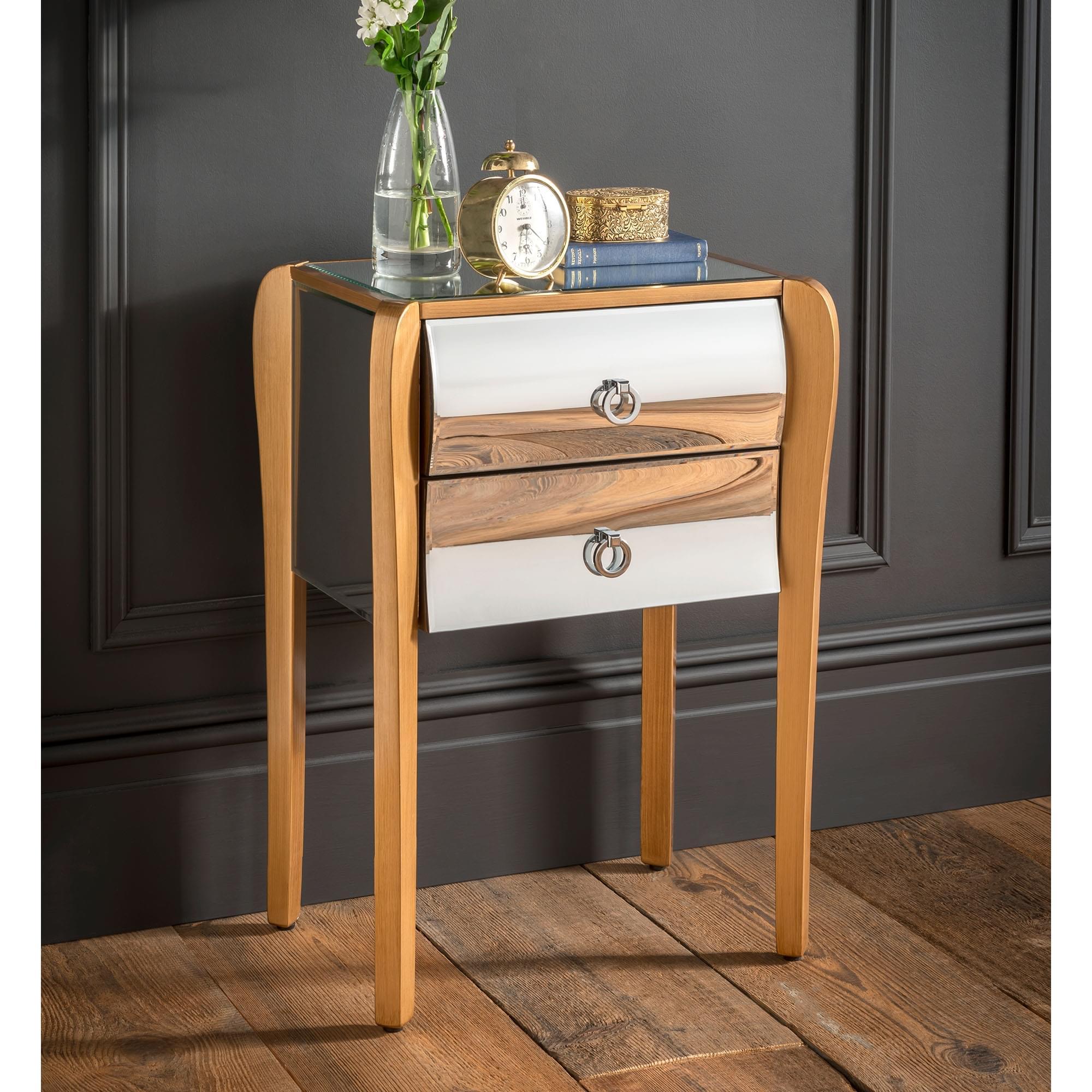 online retailer 1e165 8fc55 Paris Mirrored Bedside Table