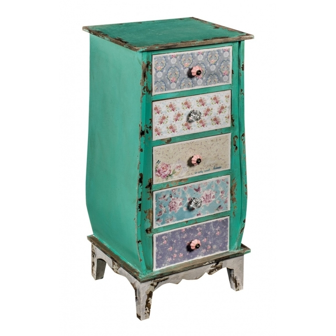 Patchwork Shabby Chic Chest of Drawers