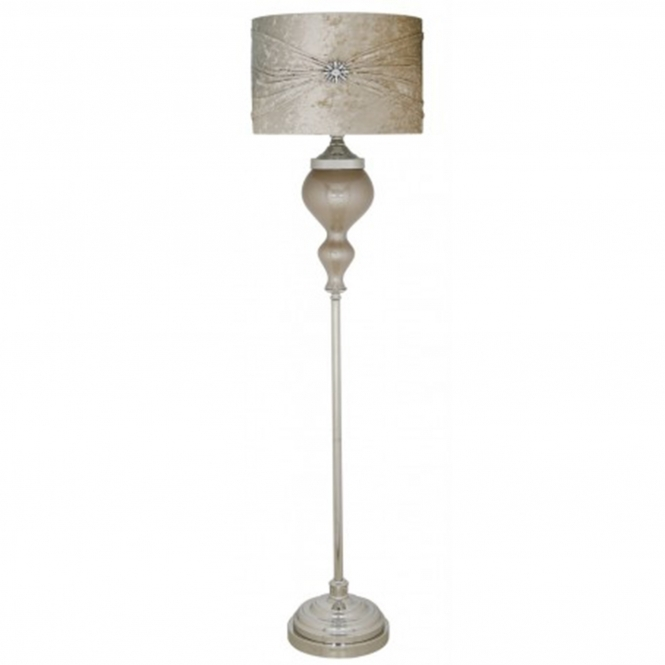 Pearl Glass Antique French Style Floorstanding Lamp