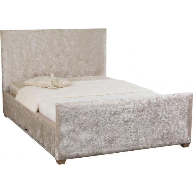 Pearl Piano Storage Crushed Velvet Bed