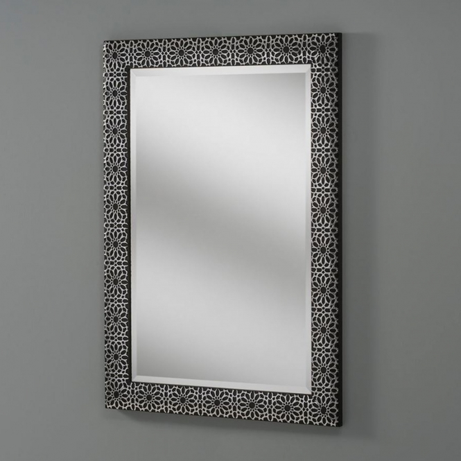 Petal Black Decorative Wall Mirror