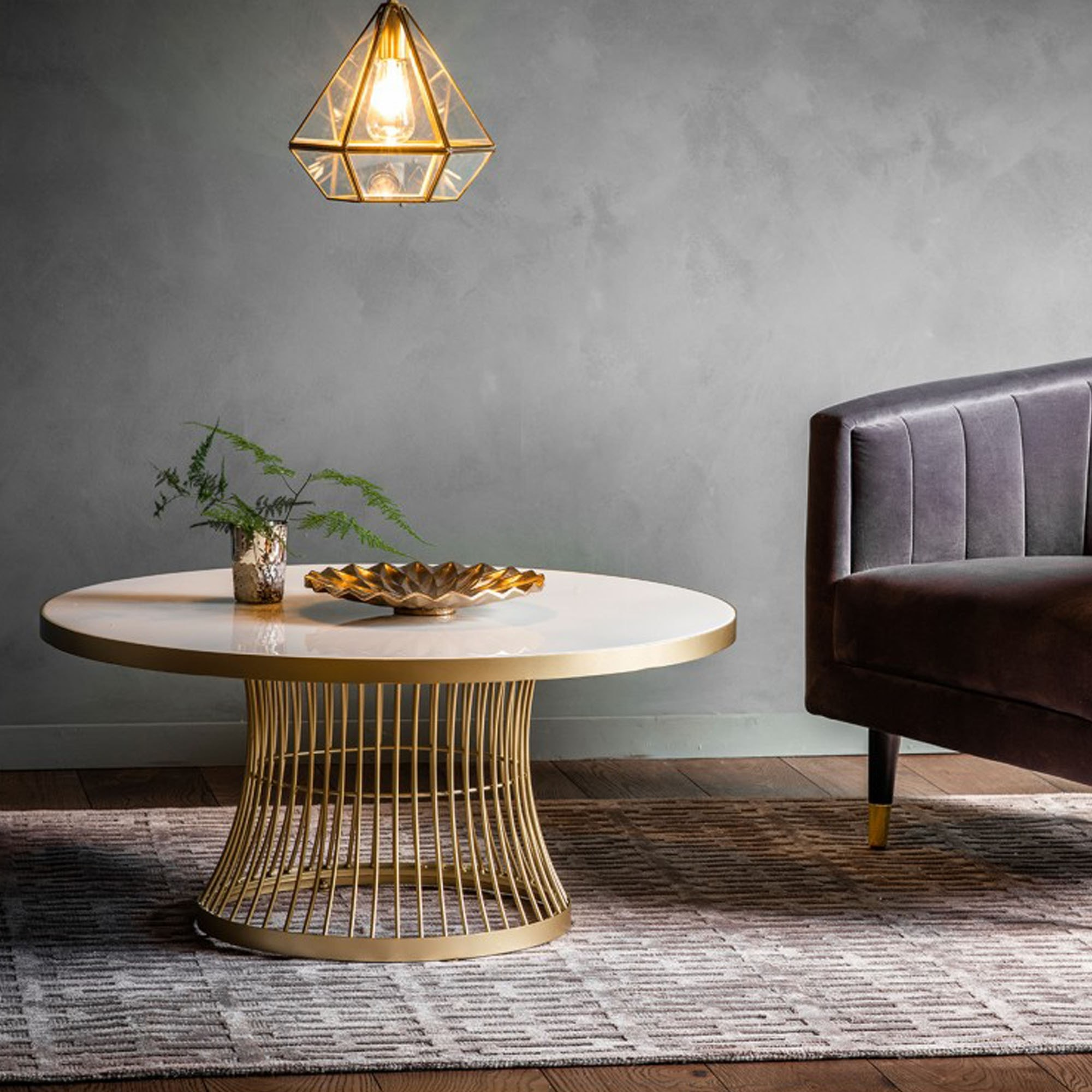 Pickford Coffee Table Bronze: Pickford Coffee Table Champagne