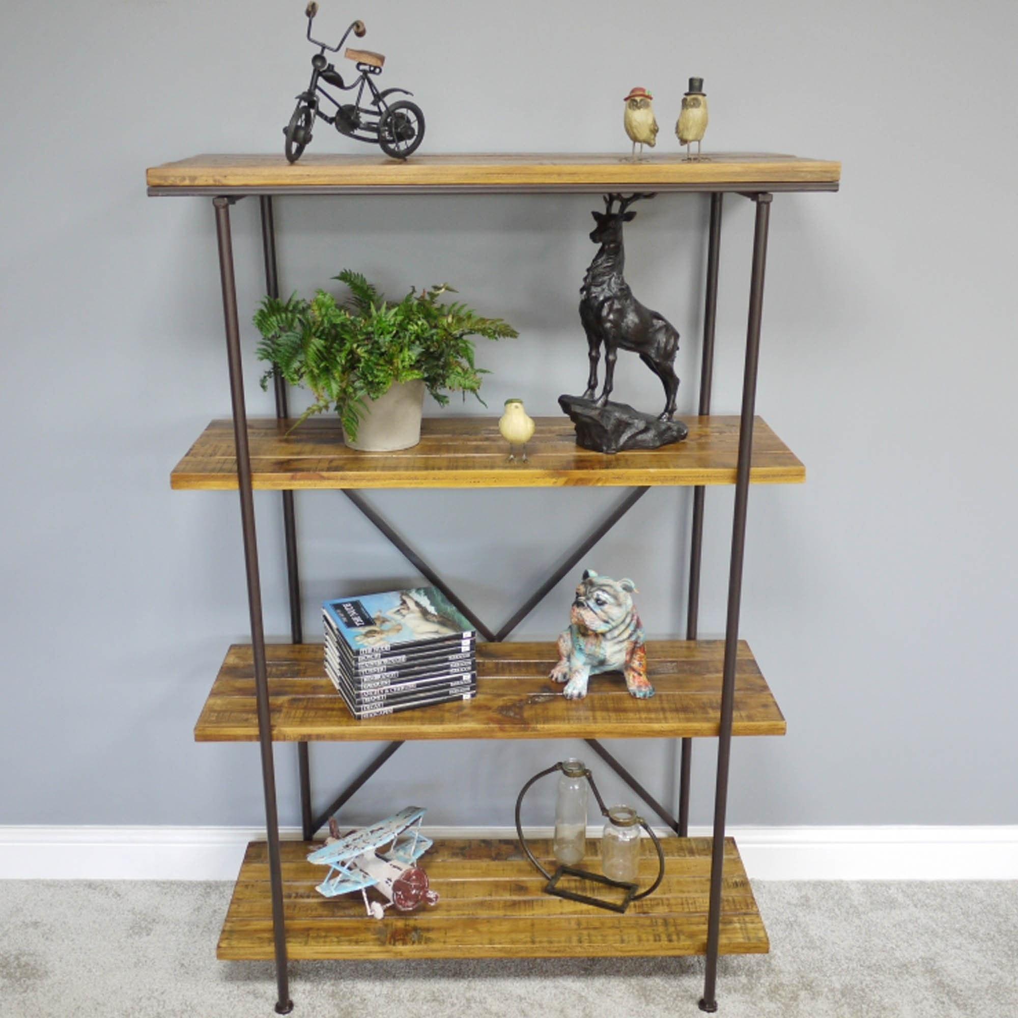 Pine Wood Industrial Shelves