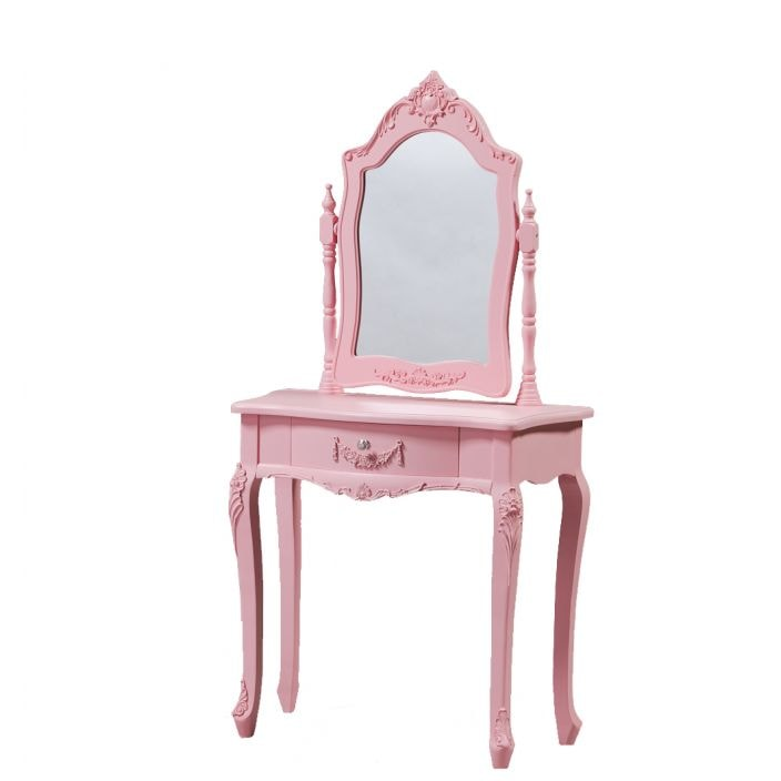Pink antique french style dressing table available