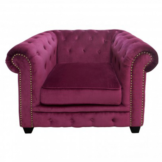 Pink Chesterfield Chair