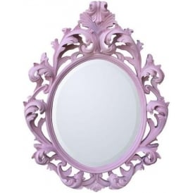 Pink Decorative Antique French Style Mirror
