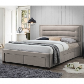 Pippa Champagne Fabric Bed
