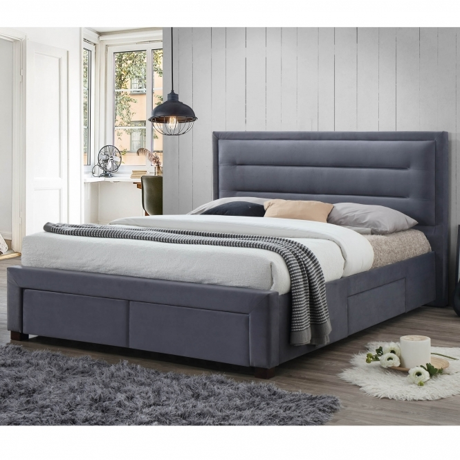 Pippa Grey Fabric Bed