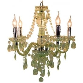 Pistachio Electric Five Light Princess Pendant