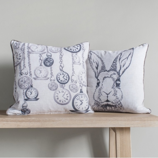 Pocket Watch Rabbit Cushion