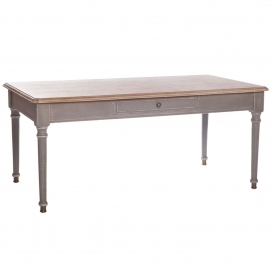 Poitiers Grey Shabby Chic 1 Drawer Coffee Table