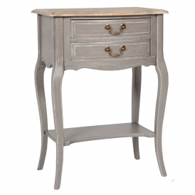 Poitiers Grey Shabby Chic Bedside Table