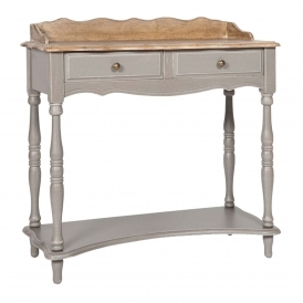 Poitiers Grey Shabby Chic Console Table