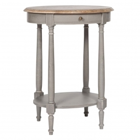 Poitiers Grey Shabby Chic Side Table