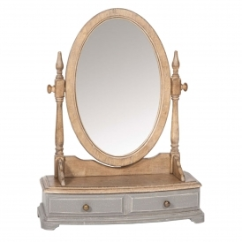 Poitiers Grey Shabby Chic Table Mirror