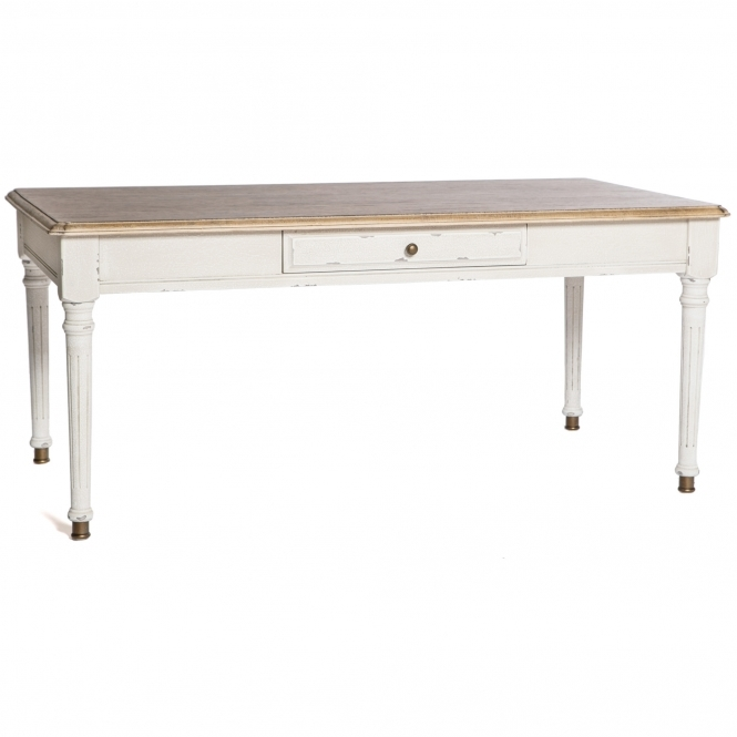 Poitiers White Shabby Chic 1 Drawer Coffee Table