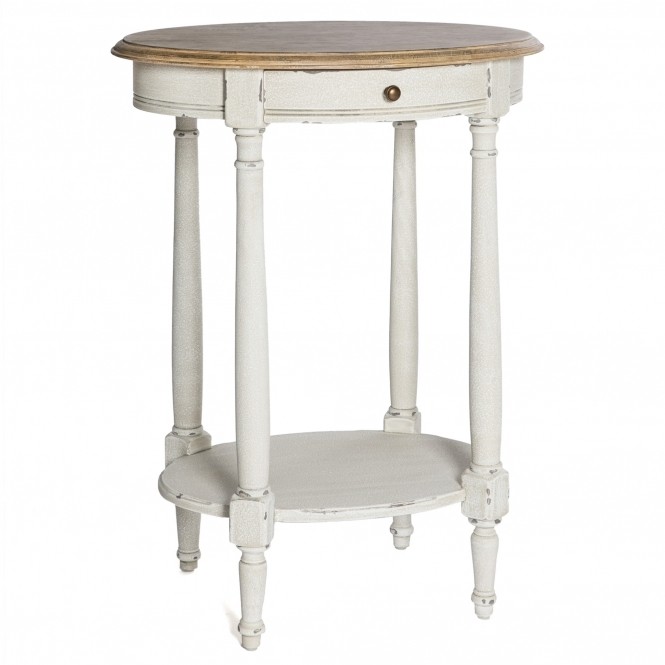 Poitiers White Shabby Chic Side Table