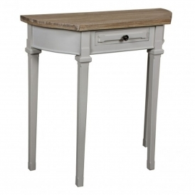 Portobello Curved Shabby Chic Console Table