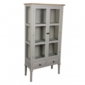 Portobello Large Glazed Shabby Chic Cabinet