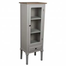 Portobello Tall Glazed Shabby Chic Cabinet