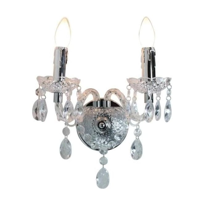 Princess 2 Light Antique French Style Wall Lamp