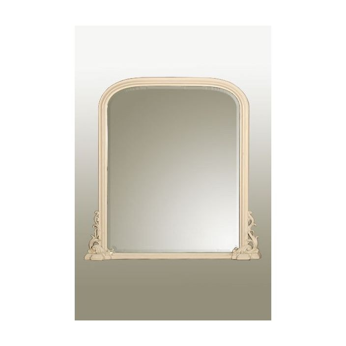 antique french style white overmantle mirror overmantle