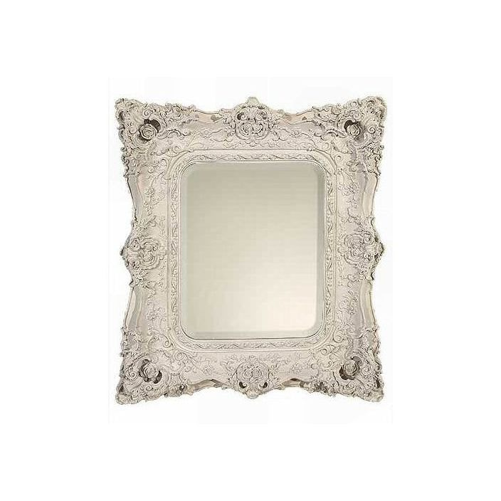 White decorative antique french style wall mirror french for Antique looking wall mirrors