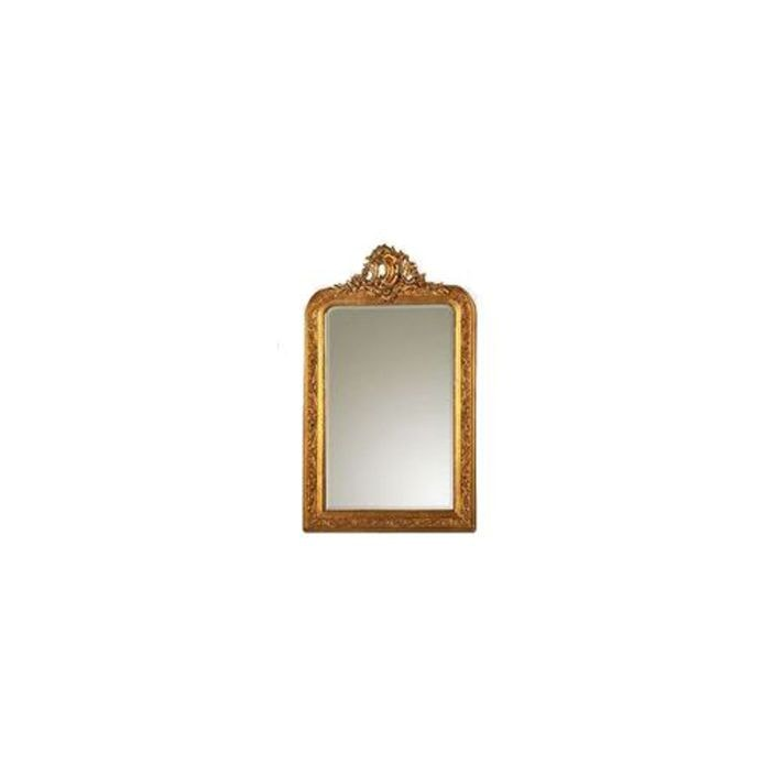 Ornate gold style antique french decorative wall mirror for Antique looking wall mirrors