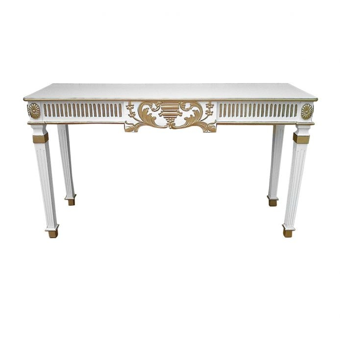 gold detailing antique french console table