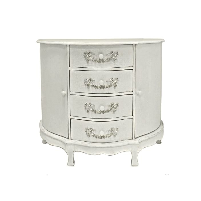 Ivory antique french style cabinet for Furniture 365 direct