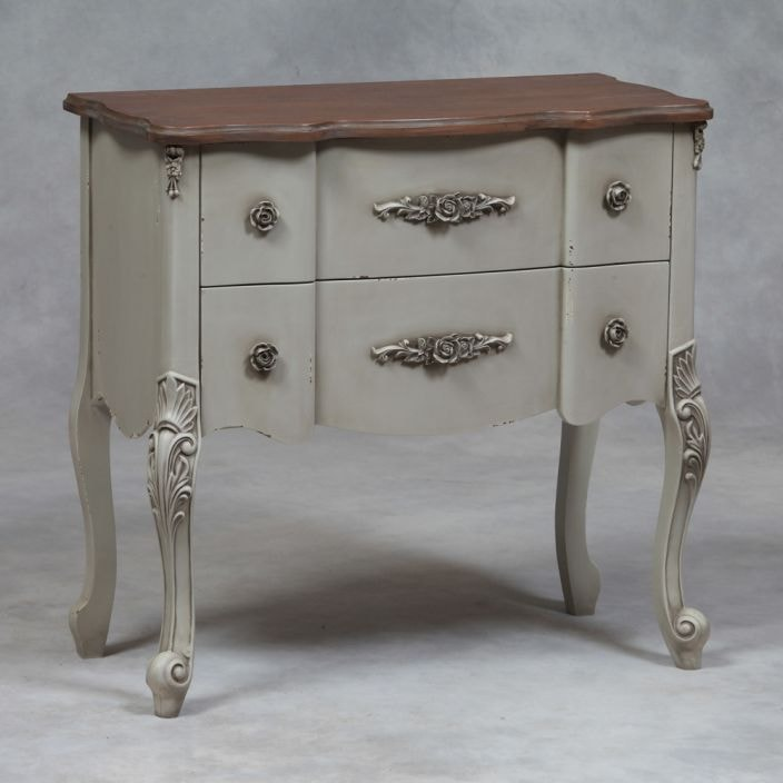 Grey antique french style chest shabby chic furniture online - Gray shabby chic furniture ...