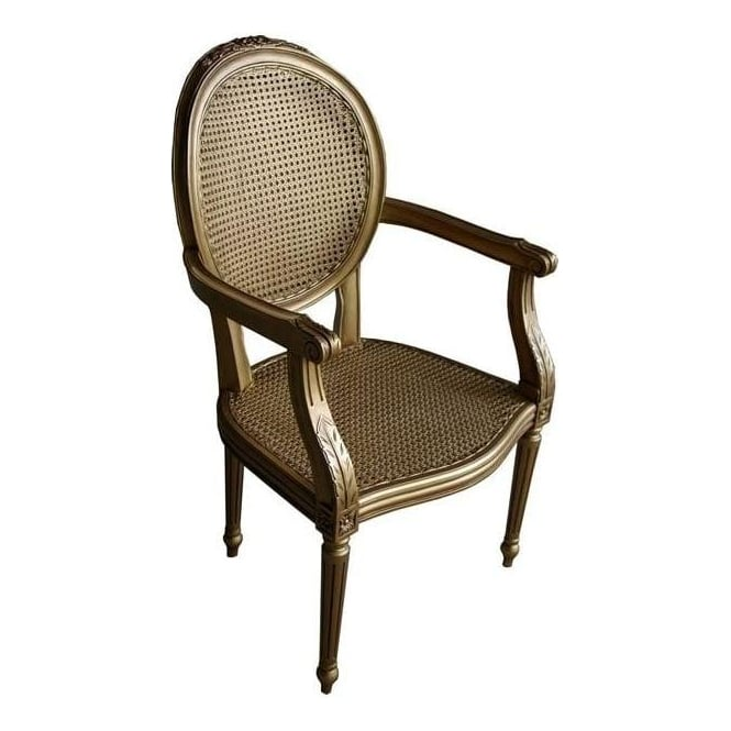 Antique French Style Rattan Chair