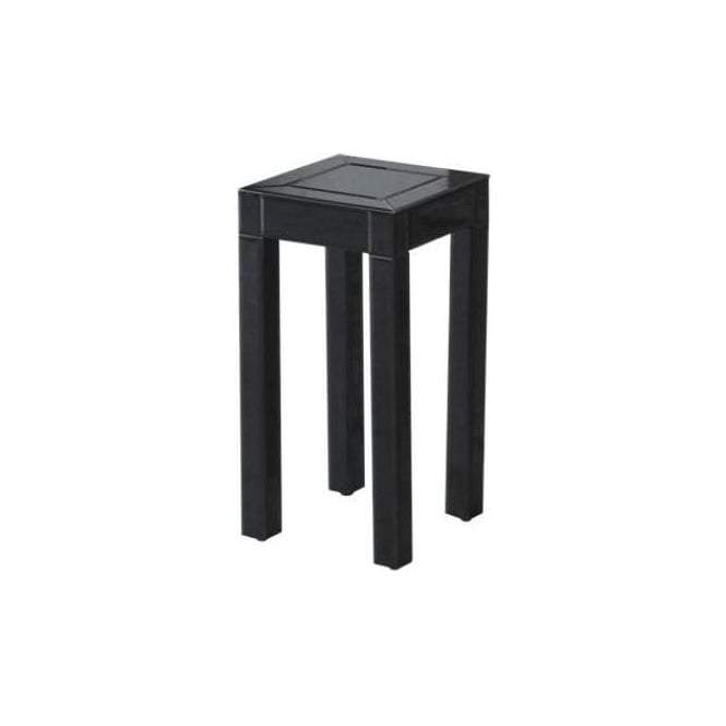 Small Black Glass Pedestal