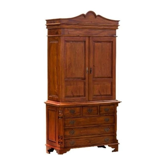 Antique French Style Linen Press Wardrobe