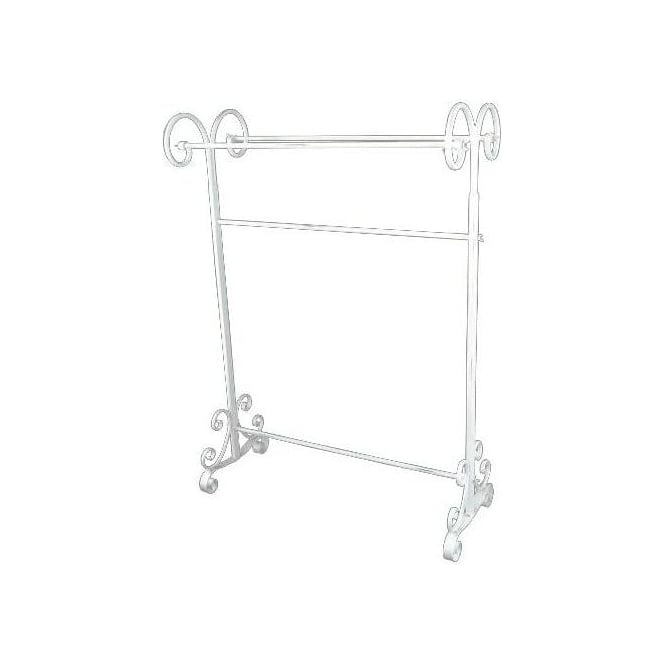White Antique French Style Iron Stand