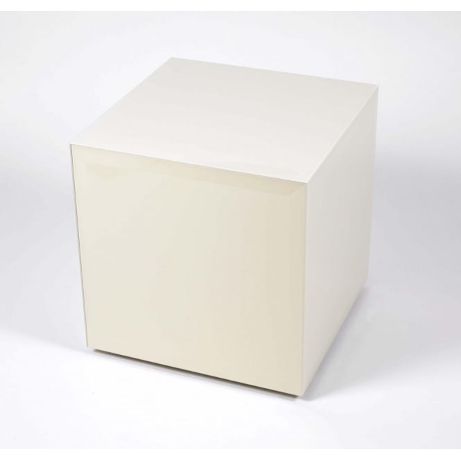 Cream Glass Cube