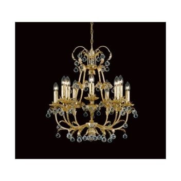 Cream & Gold Antique French Style Pendant Light