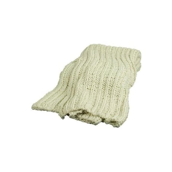Hand Knitted Ribbed Throw