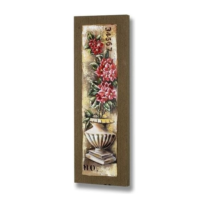 Handpainted Flower Urn Canvas