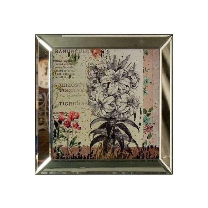 Illustrated Glass Wall Plaque