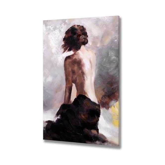 Handpainted Woman On Canvas