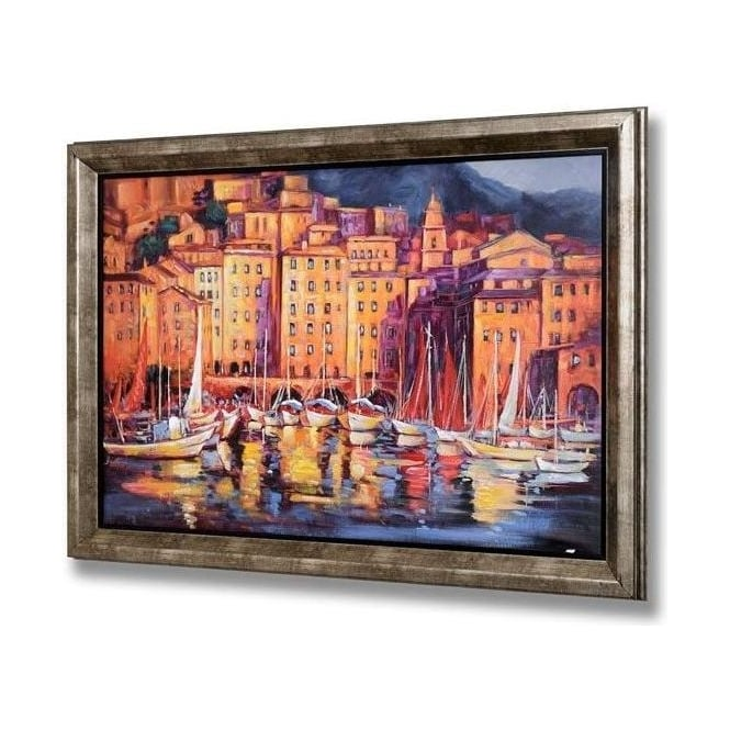 Handpainted Venice Scene With Frame