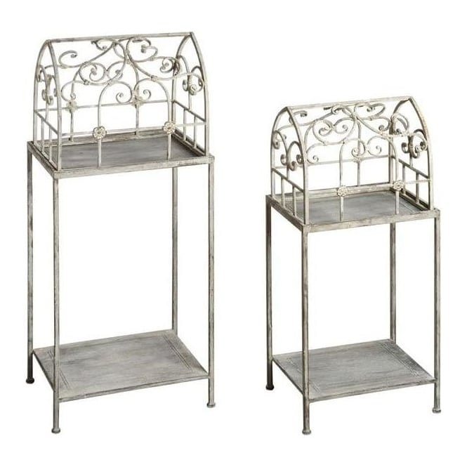 Pair Of Birdcage Planter Stands