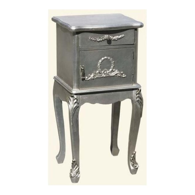 Silver Antique French Style Bedside