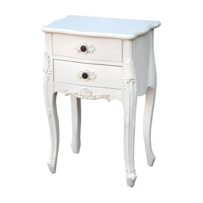 2 Drawer Antique French Style Bedside Cabinet
