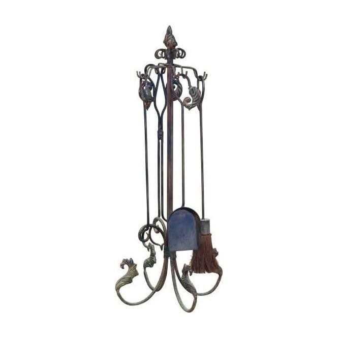 Iron Antique French Style Fireplace Clean Set