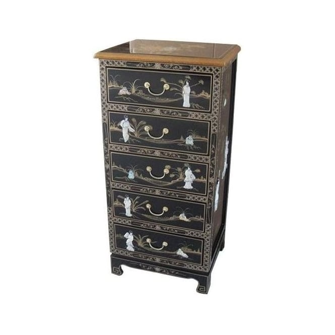 Mother of Pearl Shabby Chic Chest of Drawers