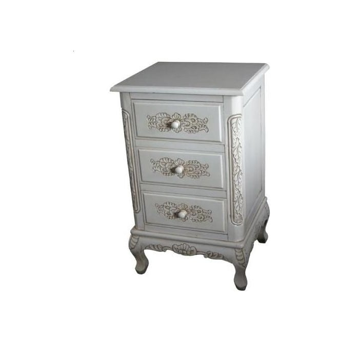 3 Drawer Antique French Style Bedside