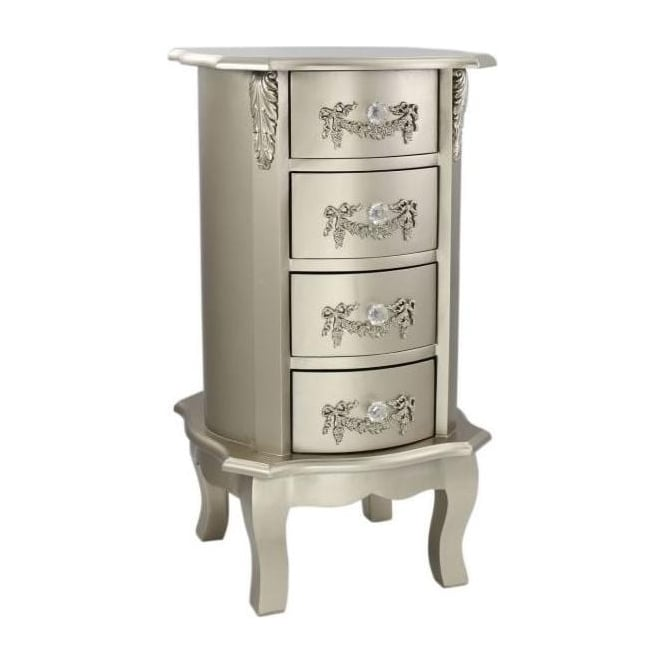 Champagne Antique French Style Bedside